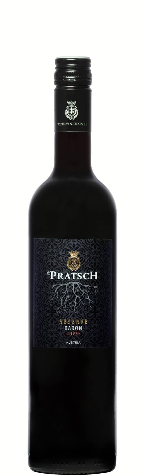 Weinflasche Rotwein Cuvée Baron - by S. Pratsch